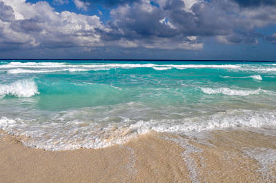 Cancun Photograph - Beautiful Cancun Beach by Brandon Bourdages