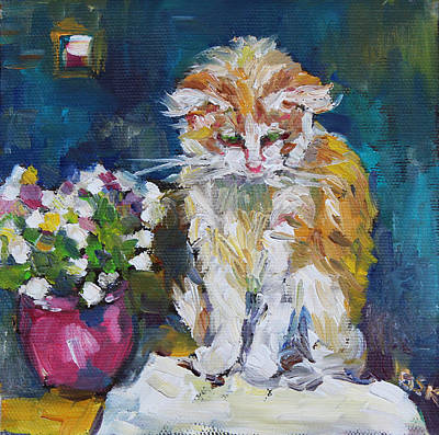 Beautiful Cat Dohchi Art Print by Becky Kim