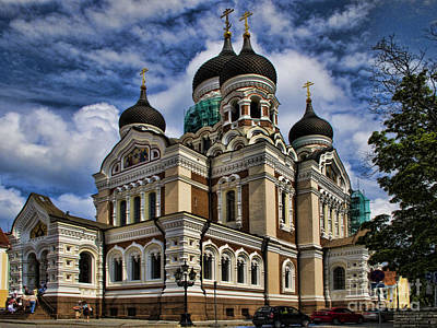 Photograph - Beautiful Cathedral In Tallinn Estonia by David Smith