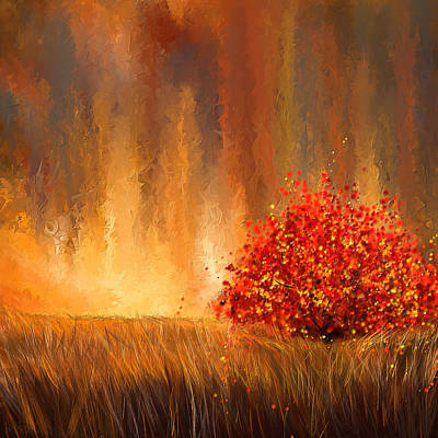 Beautiful Change- Autumn Impressionist Art Print by Lourry Legarde