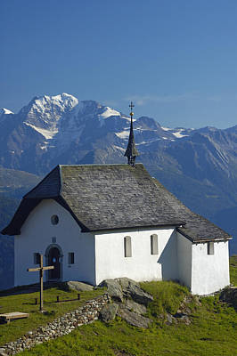 Photograph - Beautiful Chapel In The Mountains by Matthias Hauser