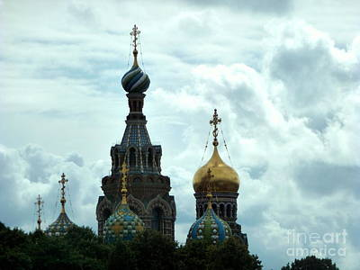 Photograph - Beautiful Church Domes by John Potts
