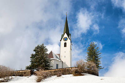 Photograph - Beautiful Church In Hirschegg Kleinwalsertal Austria Europe by Matthias Hauser