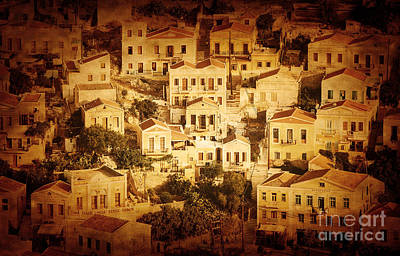 Symi Photograph - Beautiful Cityscape by Anna Om