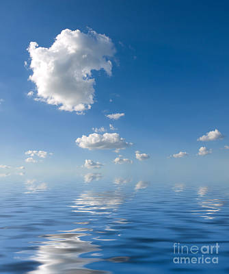 Beautiful Clouds And Sea Art Print by Boon Mee