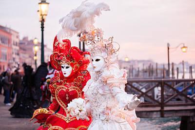 Beautiful Costumed Venetian Women Photograph By Deborah Kolb