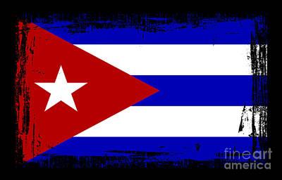 Cuba Mixed Media - Beautiful Cuba Flag by Pamela Johnson