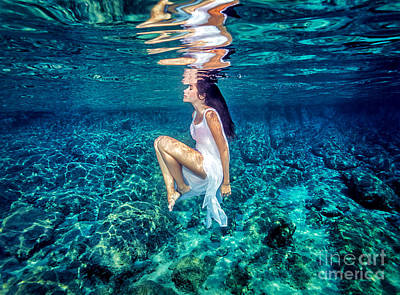 Photograph - Beautiful Dance Underwater by Anna Om