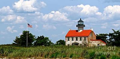 Photograph - Beautiful Day At East Point Lighthouse  by Nancy Patterson