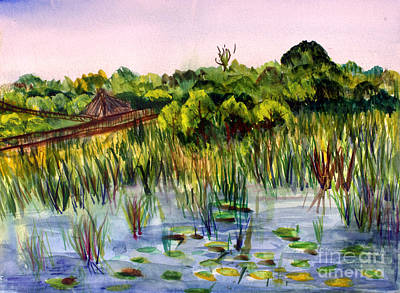 Beautiful Day At Green Cay Nature Center Art Print by Donna Walsh