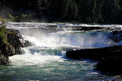 Photograph - Beautiful Day At Kootenai Falls by Connie Zarn