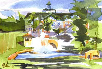 Baptist Painting - Beautiful Day At The Baptist Home Of The Ozarks In Watercolor by Kip DeVore