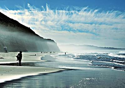 Another Beautiful Day At The Beach Art Print by Sharon Soberon