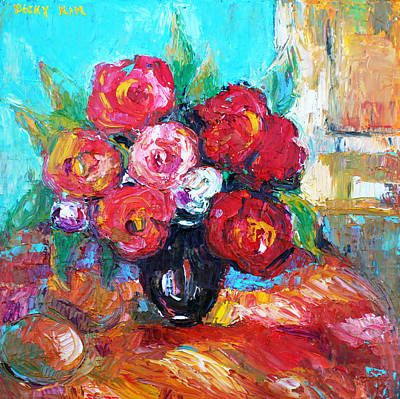 Pallet Knife Painting - Beautiful Day by Becky Kim
