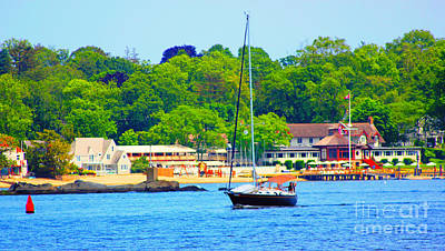 Beautiful Day For Sailing Print by Judy Palkimas