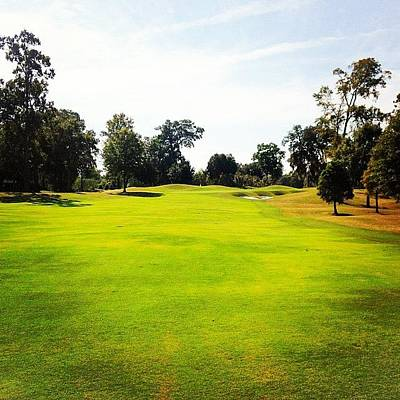 Sports Wall Art - Photograph - Beautiful Day #golf #fairway#iphone5 by Scott Pellegrin