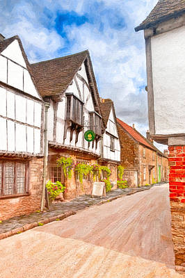 Photograph - Beautiful Day In An Old English Village - Lacock by Mark E Tisdale