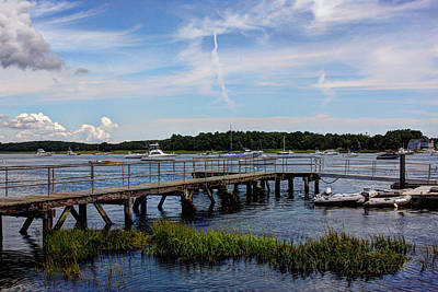 Wooden Platform Photograph - Beautiful Day In Newburyport Harbor by Laura Duhaime