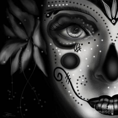 Digital Art - Beautiful Death  by J Kinion