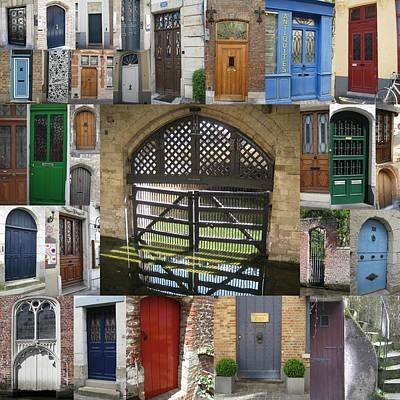 Design With Photograph - Beautiful Doors In London France And Belgium by Cathy Jacobs