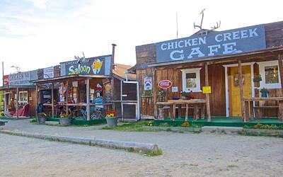 Beautiful Downtown Chicken-alaska Original by Ruth Hager