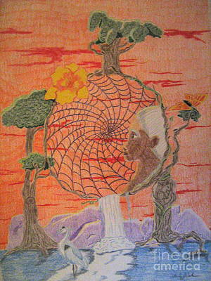 Dreamcatcher Drawing - Beautiful Dreamer by Wendy Coulson