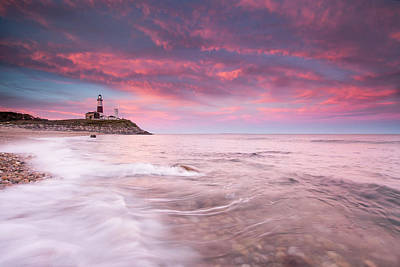 Montauk Point Lighthouse Photograph - Beautiful Evening Clouds Swirl by Robbie George