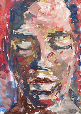 Beautiful Face With Closed Eyes Original by Nenad Cerovic
