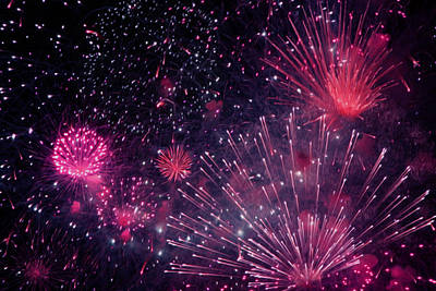 Freedom Party Painting - Beautiful Fireworks 12 by Lanjee Chee
