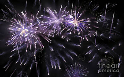 Fireworks Display Painting - Beautiful Fireworks 7 by Lanjee Chee