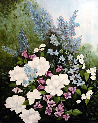 Beautiful Floral Art Print by Zelma Hensel