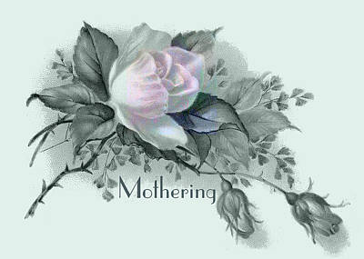 Petrol Green Digital Art - Beautiful Flowers For Mother's Day by Sarah Vernon