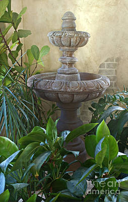 Photograph - Beautiful Fountain Indoors With Plants by Valerie Garner