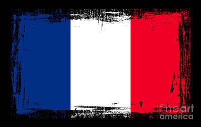 Digital Altered Mixed Media - Beautiful France Flag by Pamela Johnson