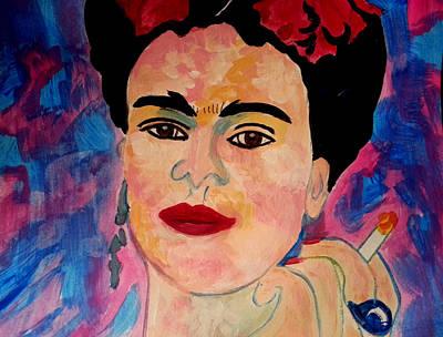 Painting - Beautiful Frida Kahlo  by Nikki Dalton