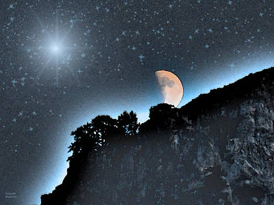 Digital Art - Beautiful Crescent Moon Night  by Augusta Stylianou