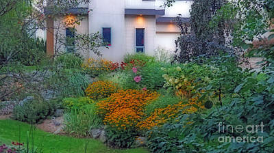 Digital Art - Beautiful Garden At Twilight by Kay Novy