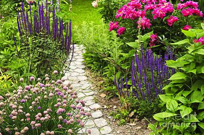 Beautiful Gardening Print by Boon Mee