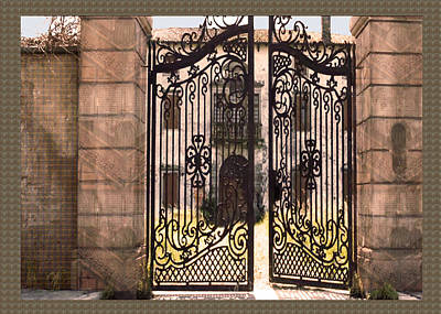 Combination Mixed Media - Beautiful Gates Vintage Construction Palaces And Mansions by Navin Joshi