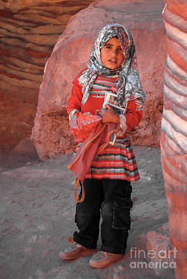 Digital Art - Beautiful Girl At Petra Jordan by Eva Kaufman