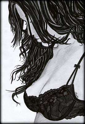 Painting - Beautiful Girl by Saki Art