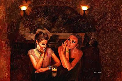 Beautiful Gossipers Art Print by Angela A Stanton