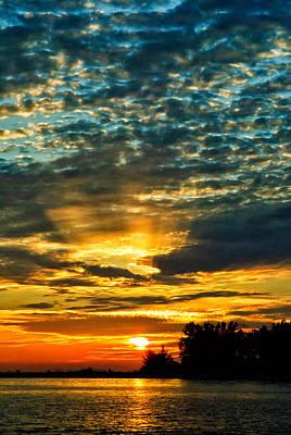 Beautiful Gulf Of Mexico Sunset Art Print by Louis Dallara
