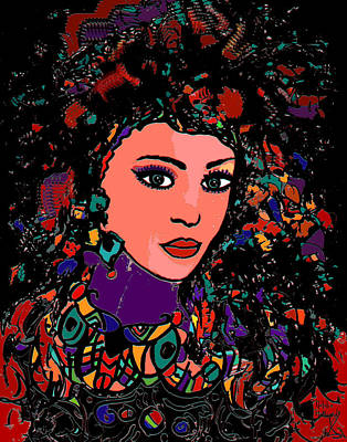 Beautiful Gypsy Art Print by Natalie Holland