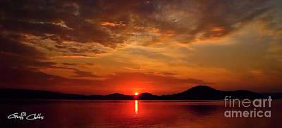 Beautiful Heaven -  Sunrise Panorama Art Print by Geoff Childs