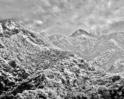 Photograph - Beautiful Himalaya Mountain Scene India - Black And White by Kim Bemis