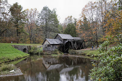 Beautiful Historical Mabry Mill Art Print by Kathy Clark