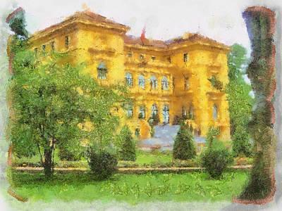 Painting - beautiful Hotel  by Teara Na