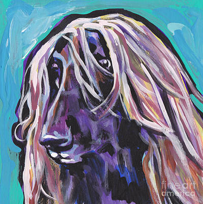 Afghan Hound Painting - Beautiful Hound by Lea S