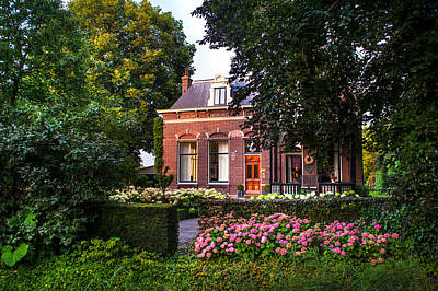 Photograph - Beautiful House In Rhoon. Holland by Jenny Rainbow
